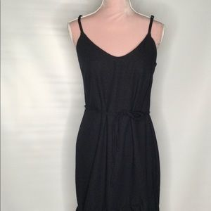 Vero moda linen blend black summer dress.